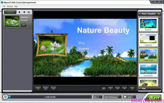 iSkysoft DVD Creator (free version) download for Mac OS X