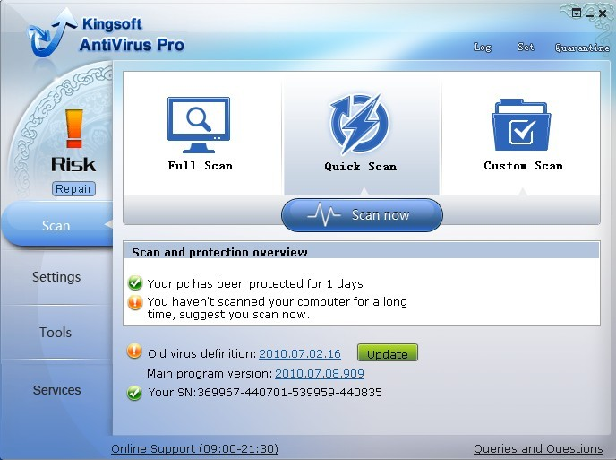 kingsoft antivirus 2011