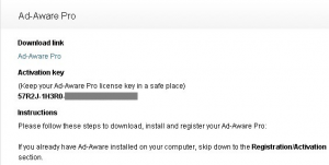 Lavasoft Ad-Aware Pro Free 1 Year Serial License Key For Free
