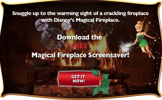 Disney's FREE Magical Fireplace Screensaver