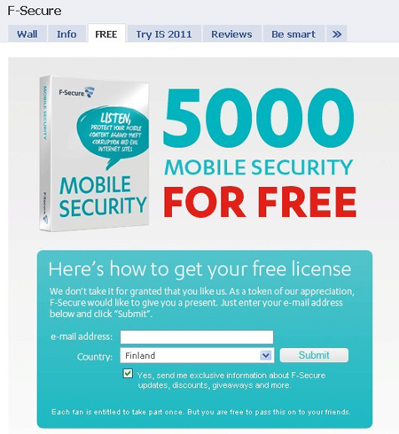 register F-Secure Mobile Security