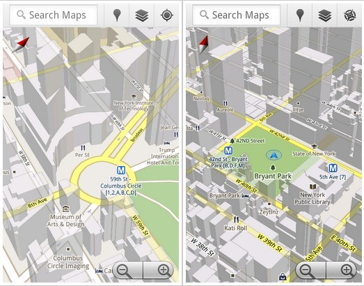 Google Maps 5.0 for Android
