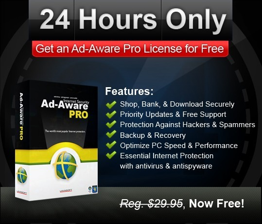 Lavasoft Ad-Aware Pro For free