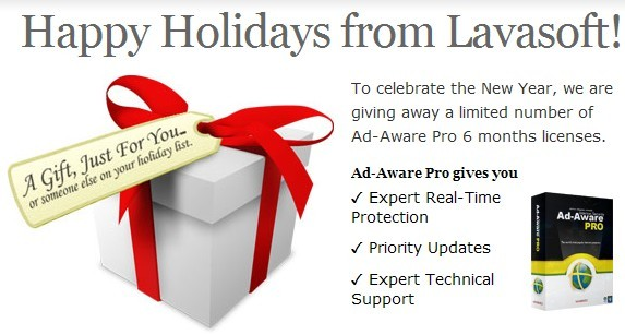 Lavasoft Holidays giveaway