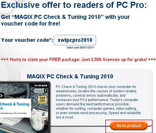 MAGIX PC Check&Tuning promo