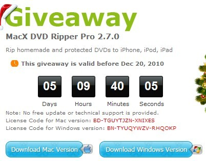 MacX DVD Ripper Pro giveaway