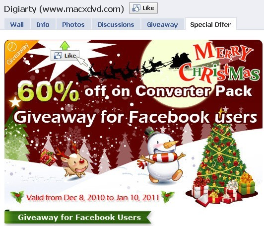 MacX iPod DVD Ripper facebook giveaway