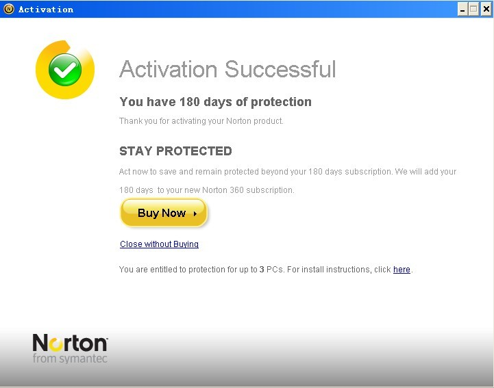 Norton 360 V4 6 Months Product Key