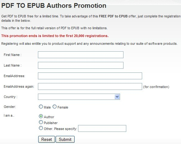 PDF TO EPUB giveaway