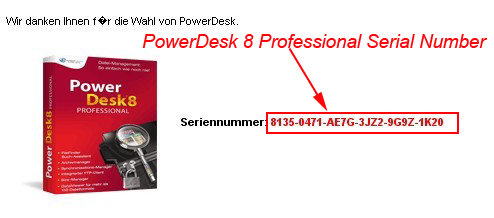 PowerDesk 8 Professional Serial Number