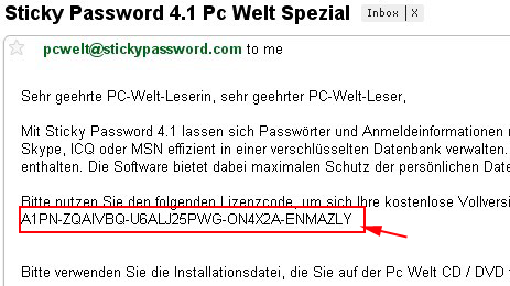 Sticky Password serial license key