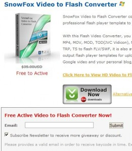 Video To Flash Converter giveaway