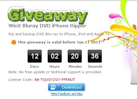 WinX Bluray iPhone DVD Ripper