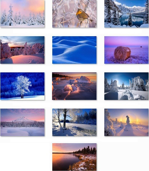 Download Winter Windows 7 Theme Pack