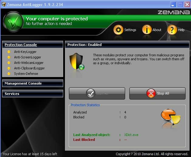zemana antilogger software