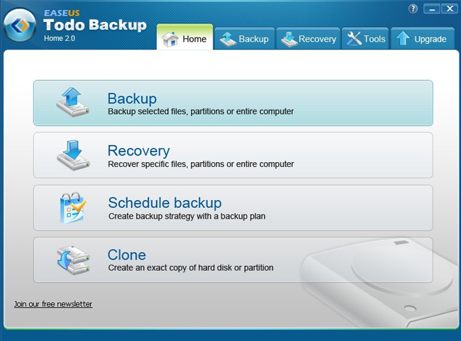 system (image) backup and recovery freeware