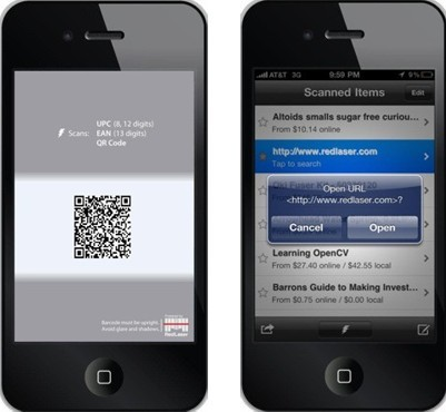 RedLaser Free barcode scanner app For iPhone, iPad and iPod touch