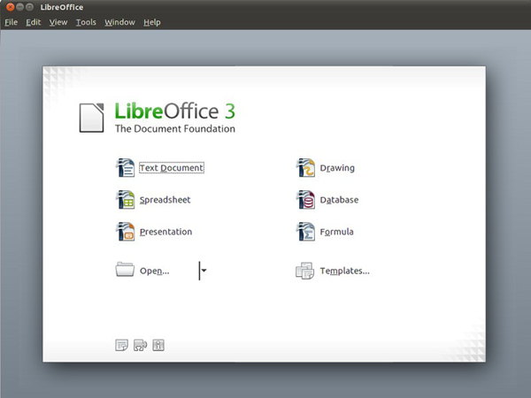LibreOffice V3.3 Screenshot