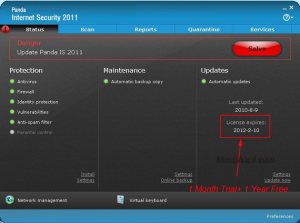 Panda Internet Security 2011 1 year Activation Code For Free