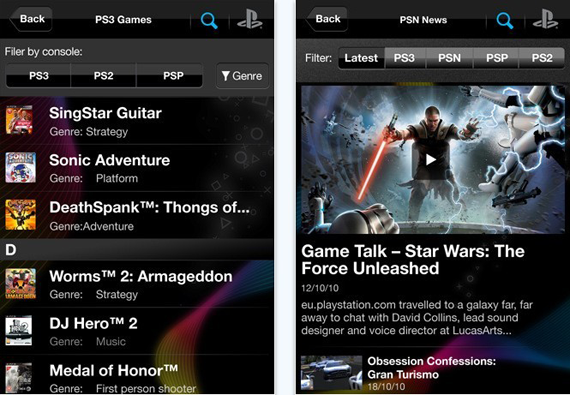 PlayStation Official App For iPhone