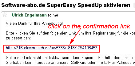 SuperEasy SpeedUp Confirm registration
