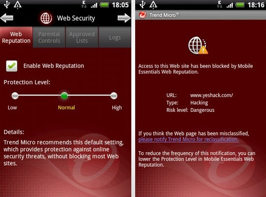 Trend Micro Mobile Security Safe Surfing