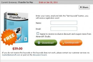 aimersoft itransfer For Mac Free registration code