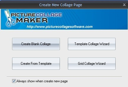 Picture Collage Maker Pro wizard window