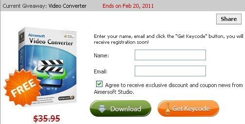 Aimersoft Video Converter Std Registration Code For Free