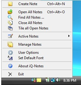 Manage notes with iQ-Notes: desktop sticky notes manager and reminder