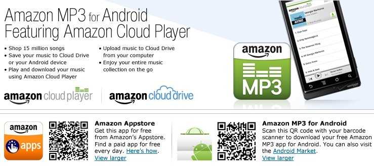 Amazon MP3 for Android Featuring Amazon Cloud Player