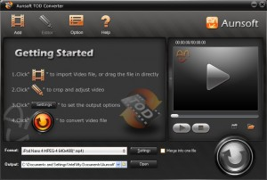Aunsoft TOD Converter For Windows Free download