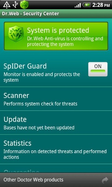 Dr.Web for Android Light Security Center