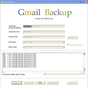Backup And Restore Email In Gmail Account With Gmail Backup Freeware