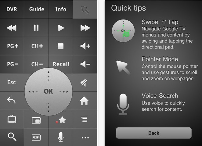 Google TV Remote App for iphone, ipad and iPod touch