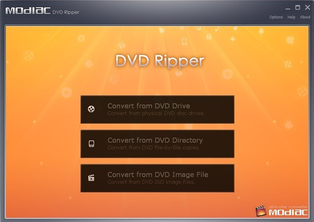 Modiac DVD ripper free download With License Code