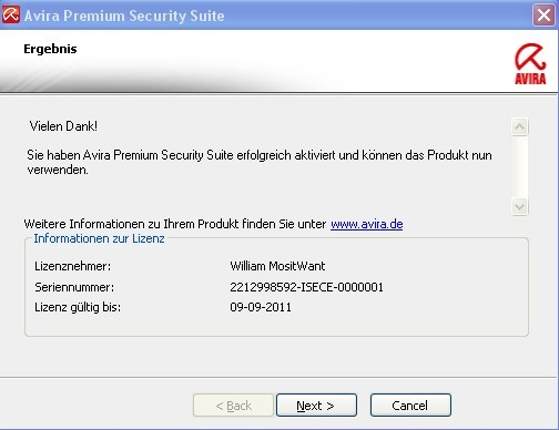 Get Avira Premium Security Suite Free 6 Months license key/activation code