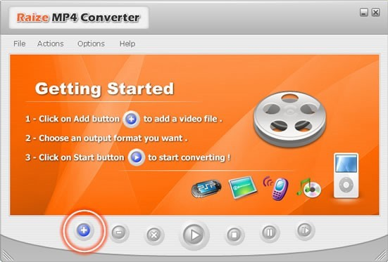 Raize MP4 Converter: convert most commonly used video file formats to MP4 (MPEG4) format