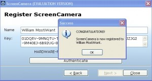 Active ScreenCamera with the free registration key