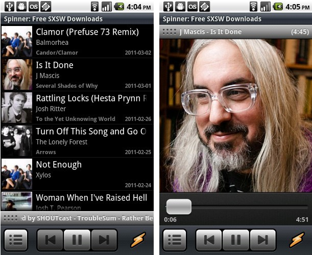 Download and Stream Free Music From Winamp for Android
