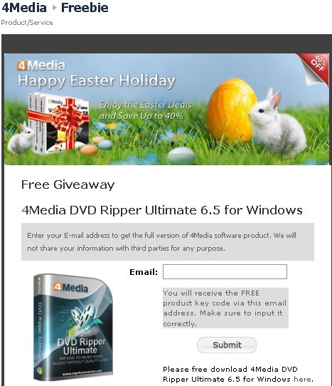 4Media DVD Ripper Ultimate 6.5 for Windows Registration Code Giveaway