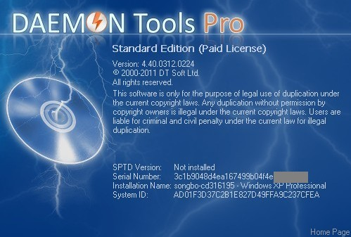 About DAEMON Tools Pro Advanced 4.41