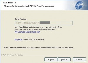 DAEMON Tools Pro Advanced 4.41 Free Serial Number