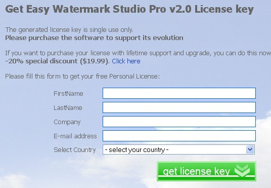 Easy Watermark Studio Pro Giveaway