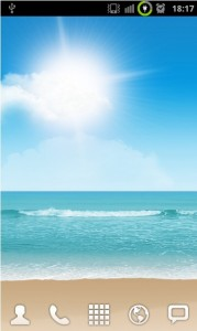 Samsung Galaxy S II Beach Live Wallpapers for Your Android Phones