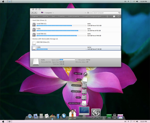 Apple Mac OS X 10.7 Lion Theme For Windows 7