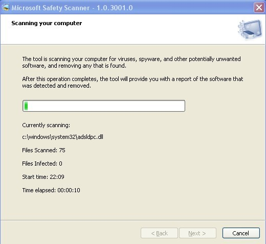 Microsoft Safety Scanner: Quick Scan