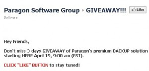 PPARAGON System Backup Giveaway