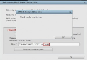 unlock and activate the full version Magix Movie Edit Pro 15 Silver