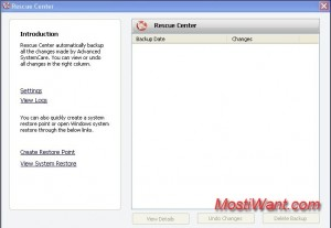 IObit Advanced SystemCare 4 - Rescue Point Creation Tool